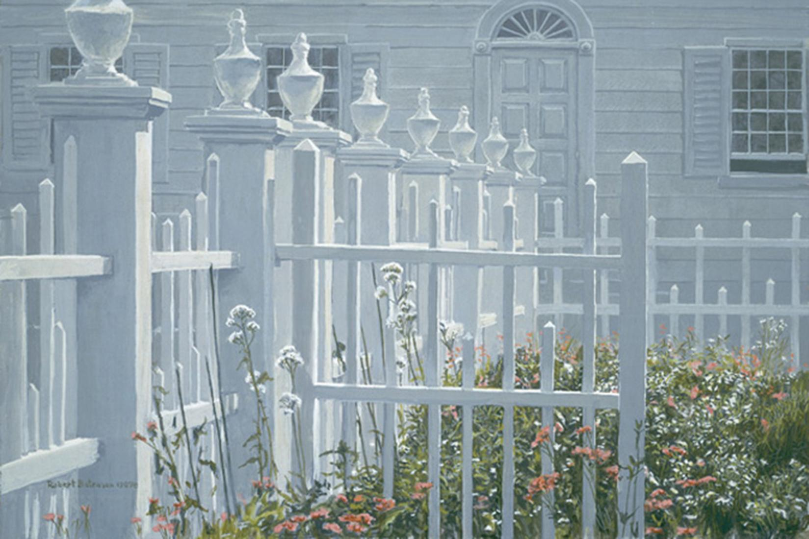 """Robert Bateman's """"Colonial Garden"""" Limited Edition Canvas Signed And Numbered"""