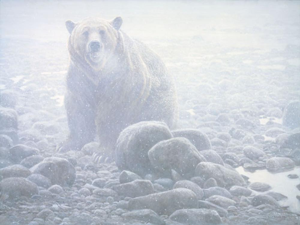 """Robert Bateman's """"End of Season - Grizzly"""" Limited Edition Canvas Signed And Numbered"""