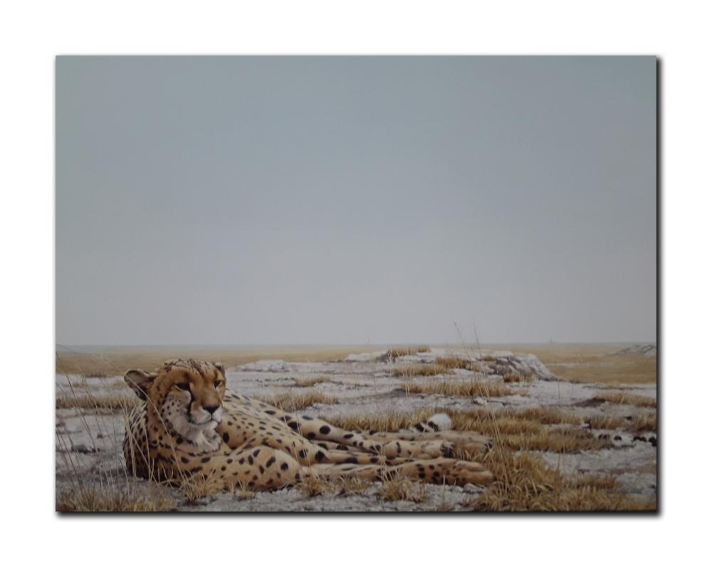 "Robert Bateman's ""Cheetah Siesta"" Limited Edition Canvas"