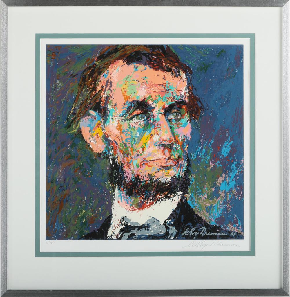 """Leroy Neiman's """"Abraham Lincoln"""" Limited Edition Print"""