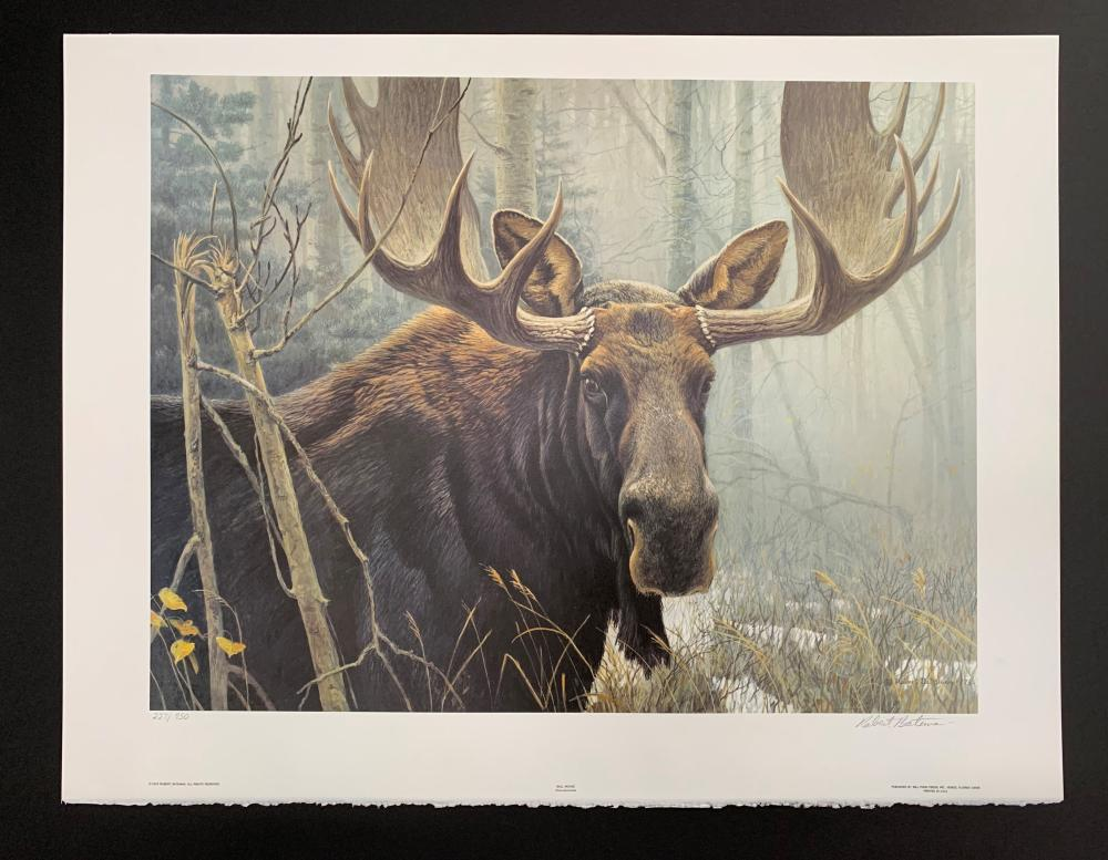 "Robert Bateman's ""Bull Moose"" Limited Edition Print"