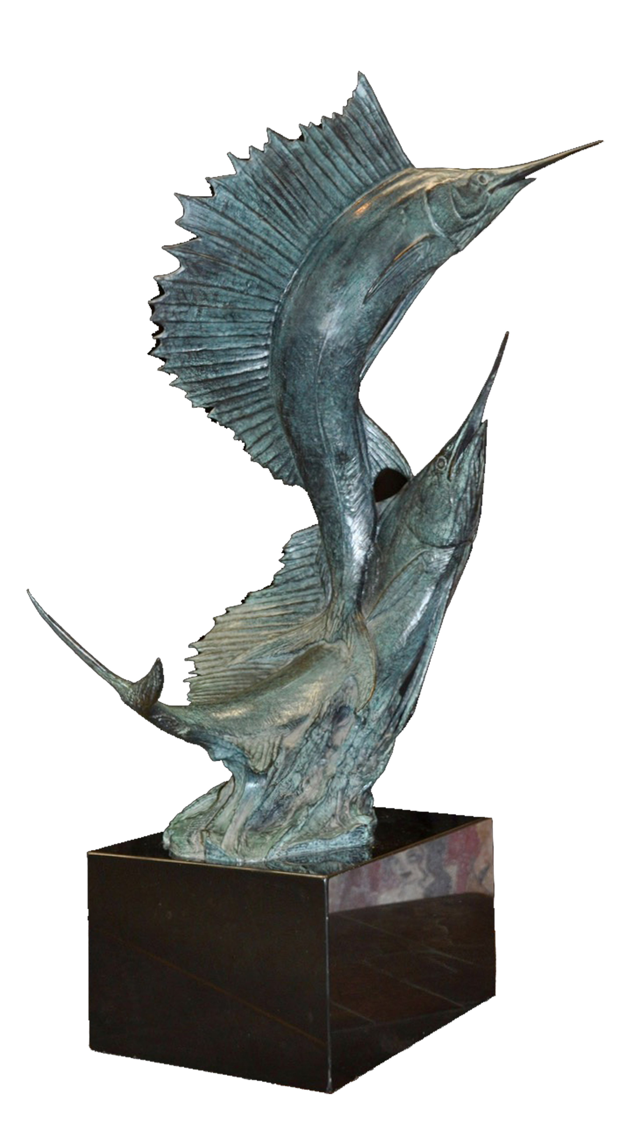 "Kent Ullberg's ""Sailfish"" Limited Edition 1/20 Bronze Sculpture With Marble Base. Stunning Piece"