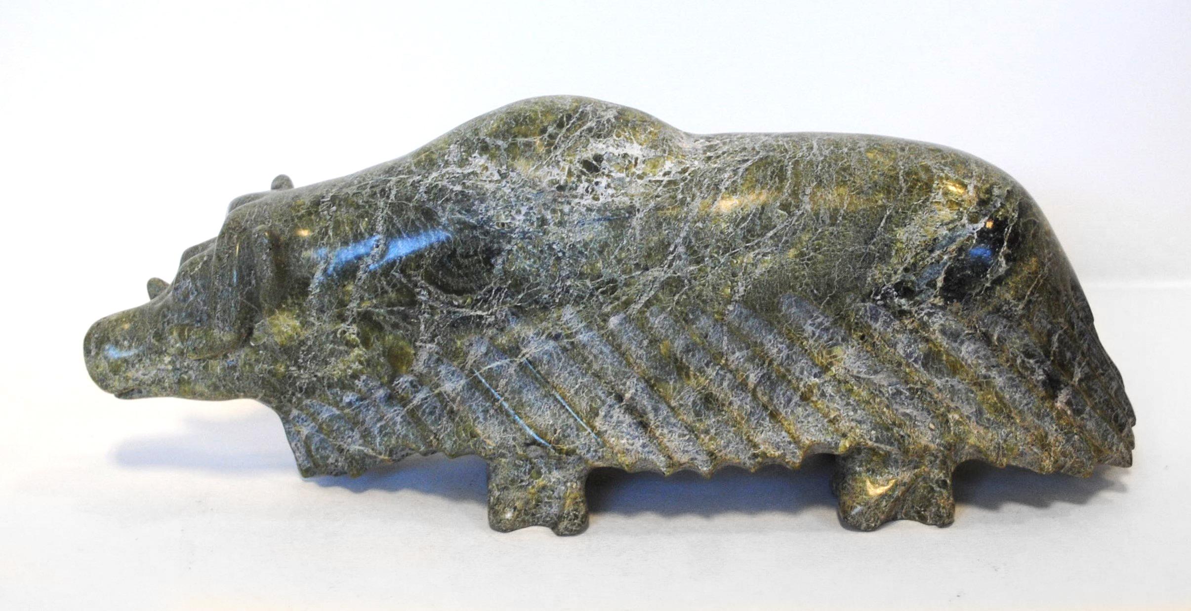 """Pudlalik Shaa's """"Muskox"""" Sculpture"""