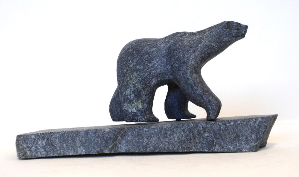 "Putuguk Ashevak's ""Bear on Base"" Sculpture"