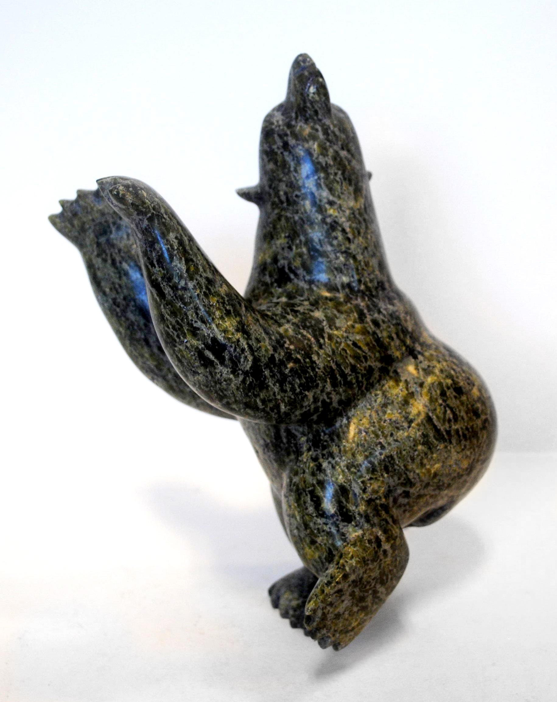 """Alariaq Shaa's """"Bear"""" Sculpture"""