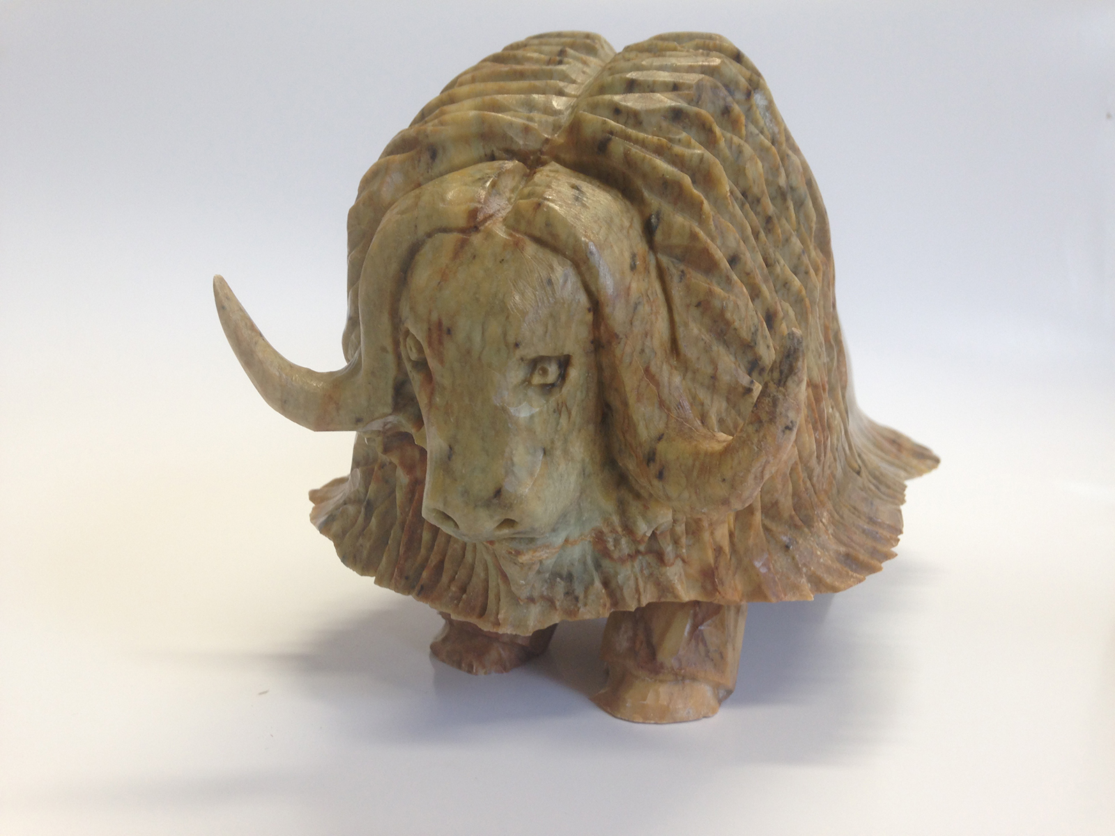 "Bill Nasogoluak's ""Muskox"" Original Sculpture"