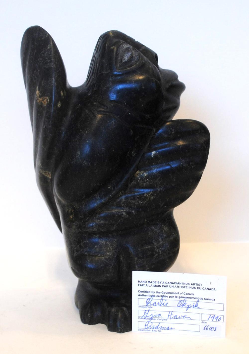 "Charlie Okpik's ""Birdman"" Sculpture"