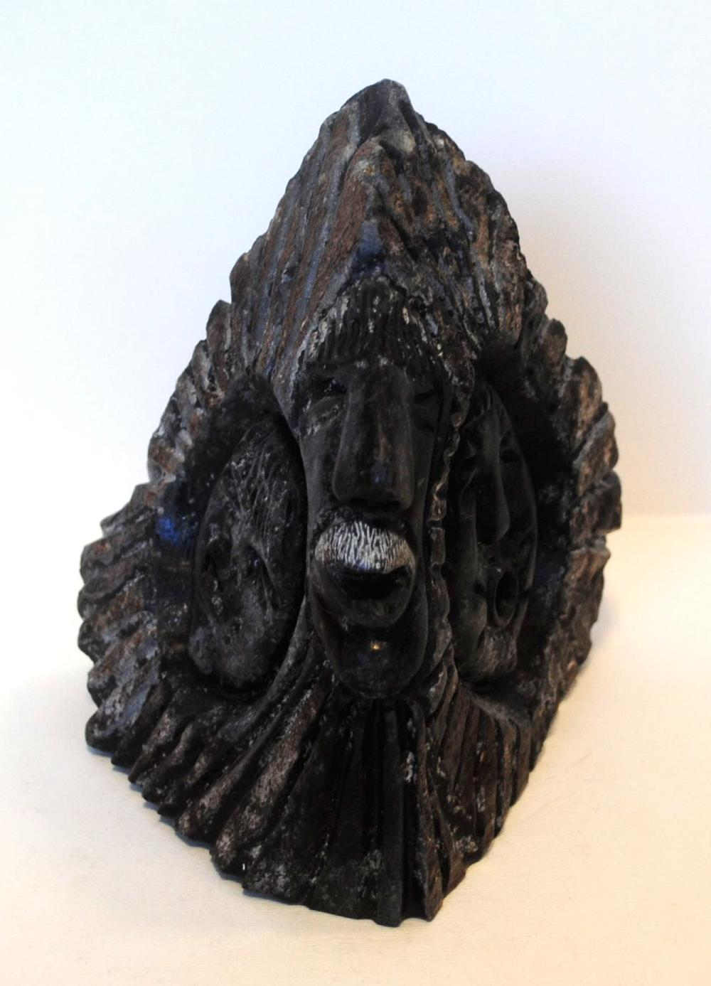 """Jackie Kameemalik's """"Spiritual Face"""" Sculpture"""