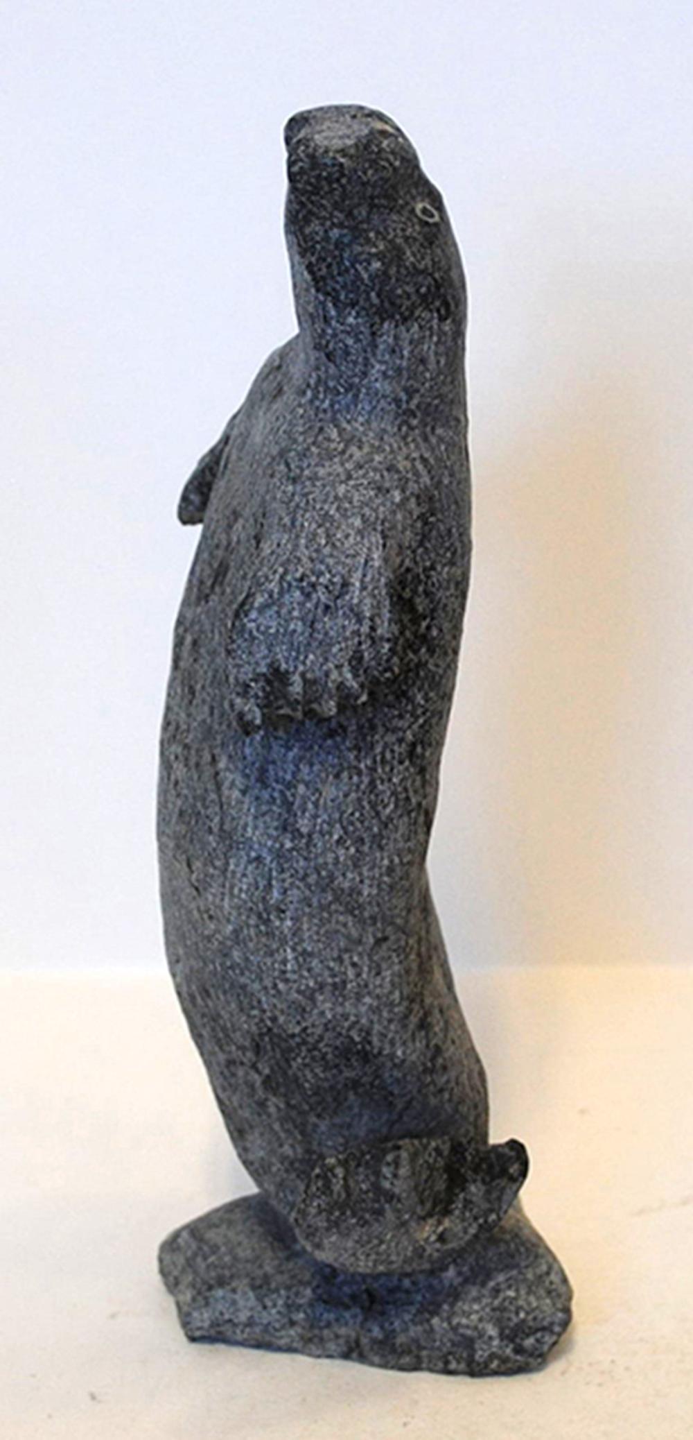 "Gideon Qauqjuaq's ""Dacing Seal"" Sculpture"