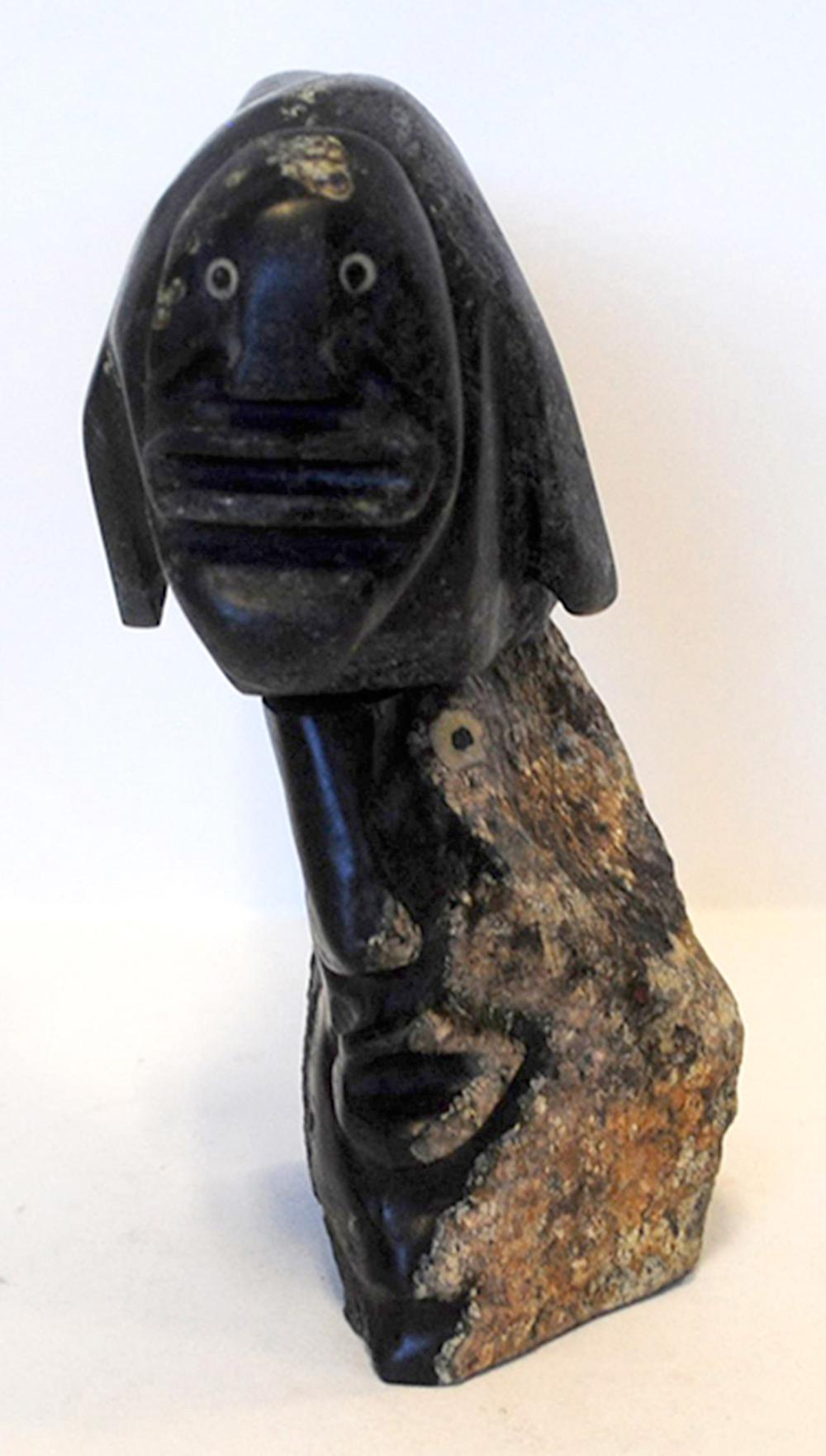 "Jackie Kameemalik's ""Shaman With Sedna"" Sculpture"
