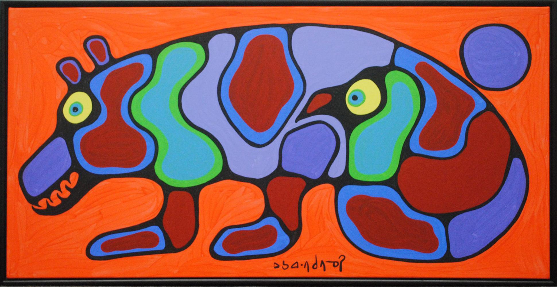 "Norval Morrisseau's ""Bird/Bear Transformation"" Original"
