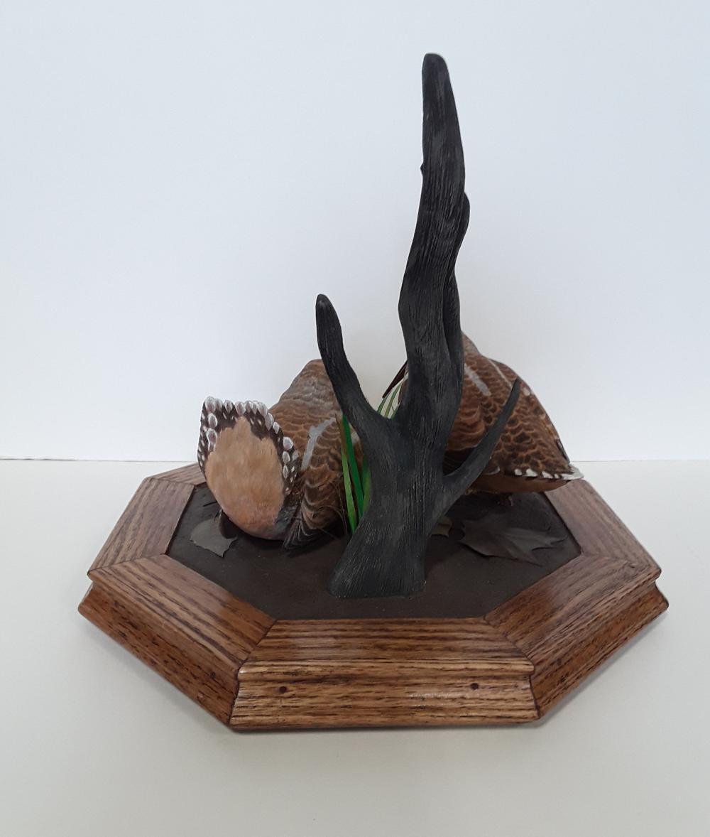 Tony Bendig's Carved Woodcocks Carving