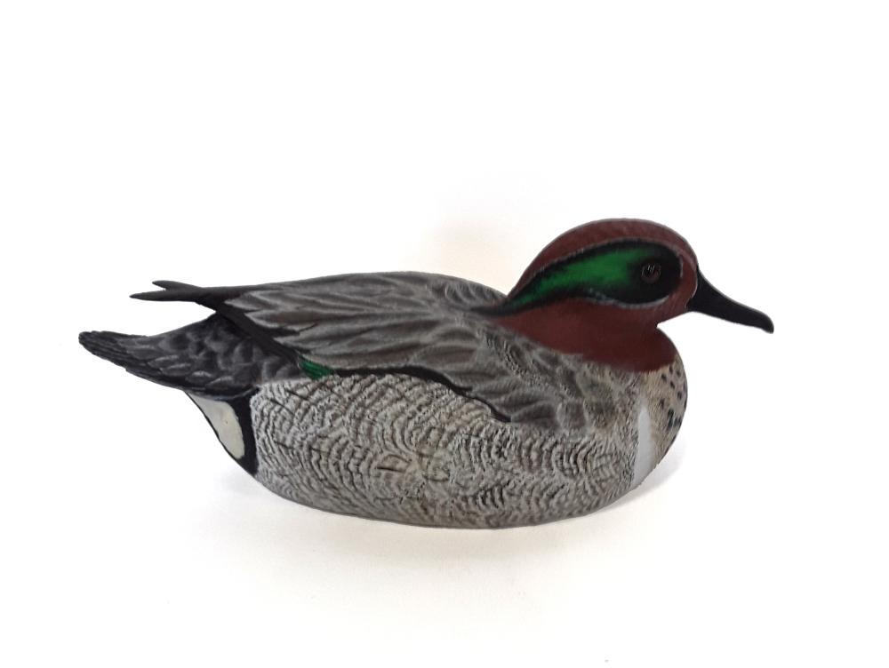Tony Bendig's Green Winged Teal Decoy Carving
