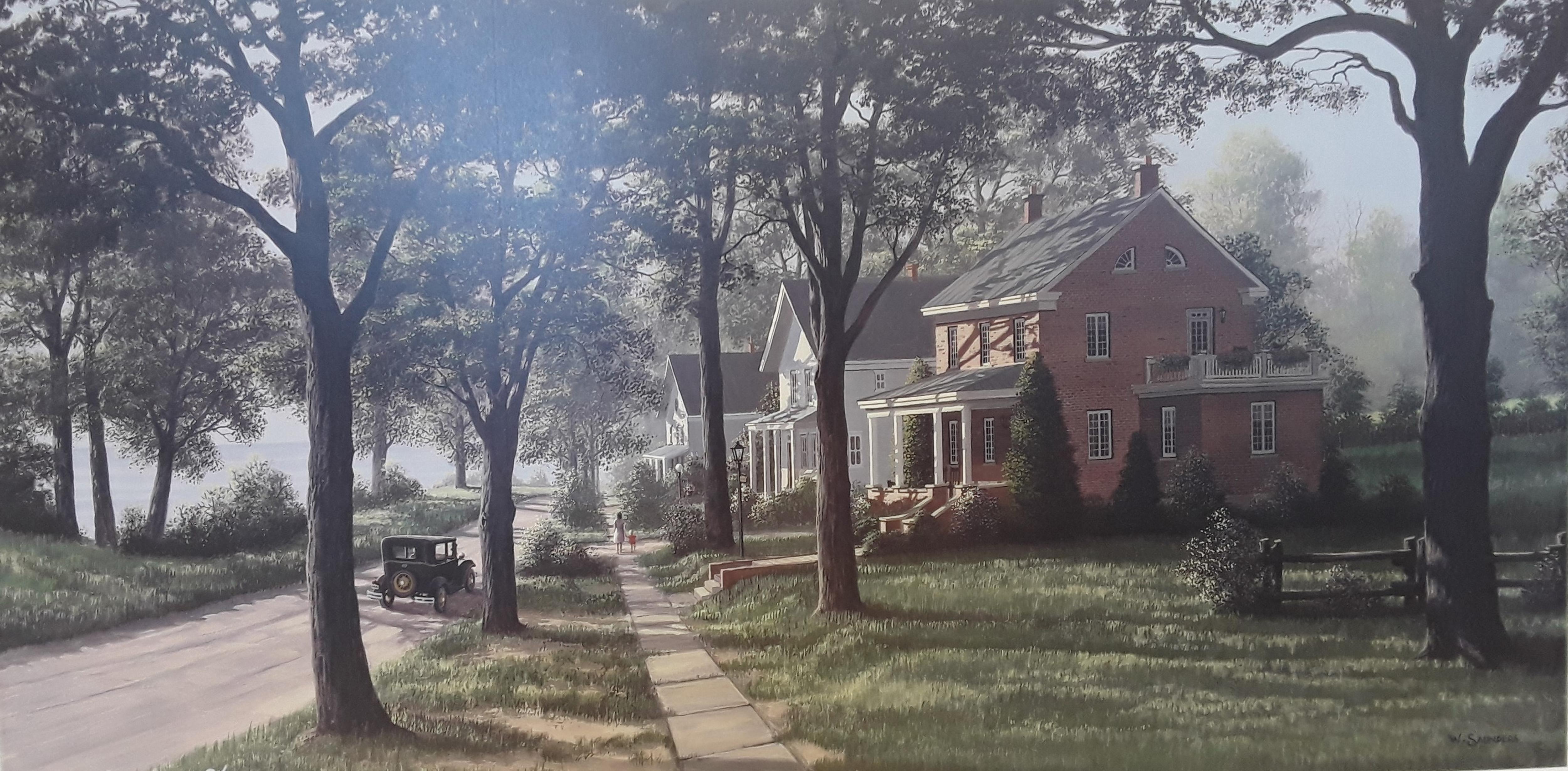 "Bill Saunders' ""Morning Stroll"" Limited Edition Artist Proof Print"