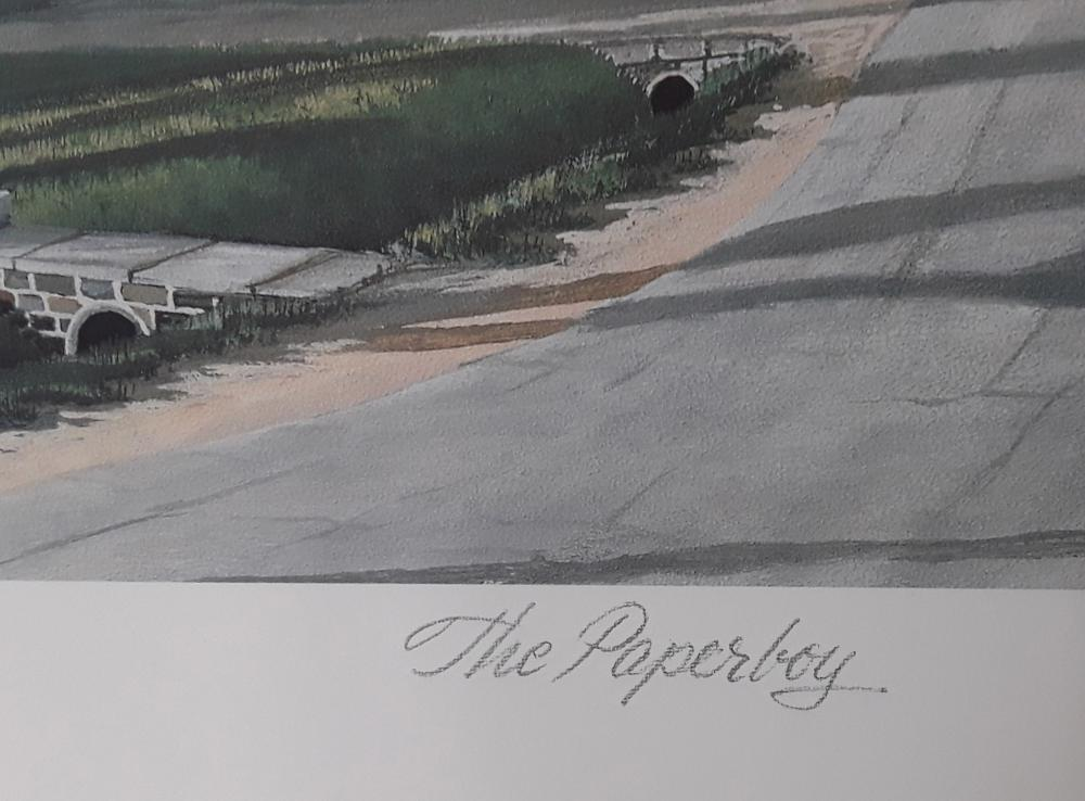 """Bill Saunders' """"The Paperboy"""" Limited Edition Print"""