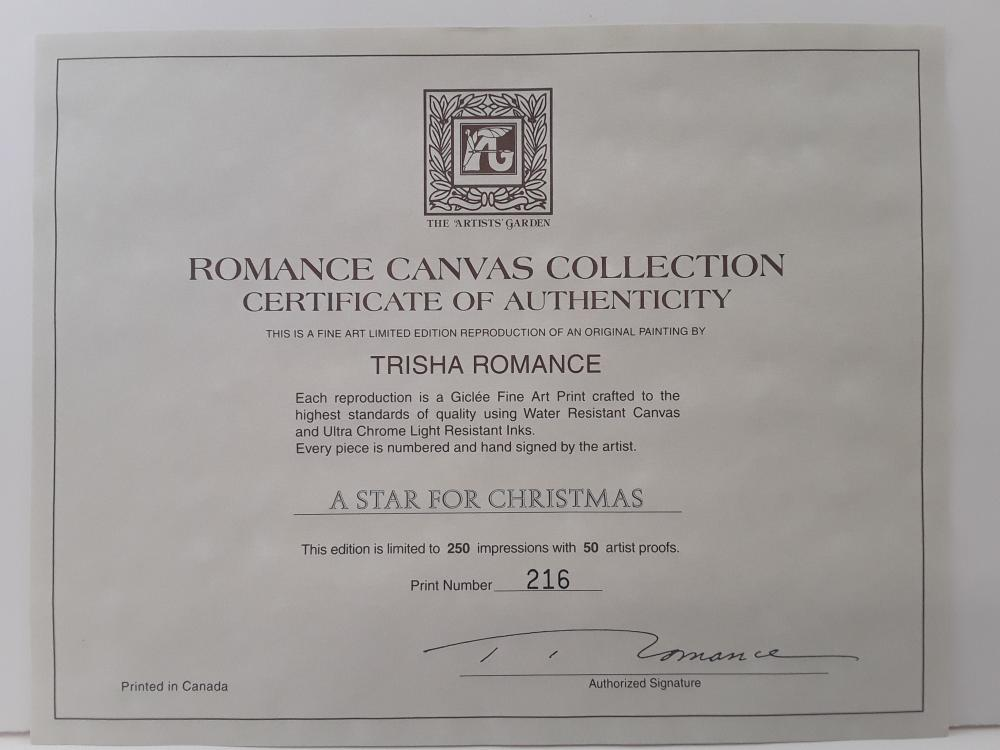 "Trisha Romance's ""A Star For Christmas"" Limited Edition Canvas"