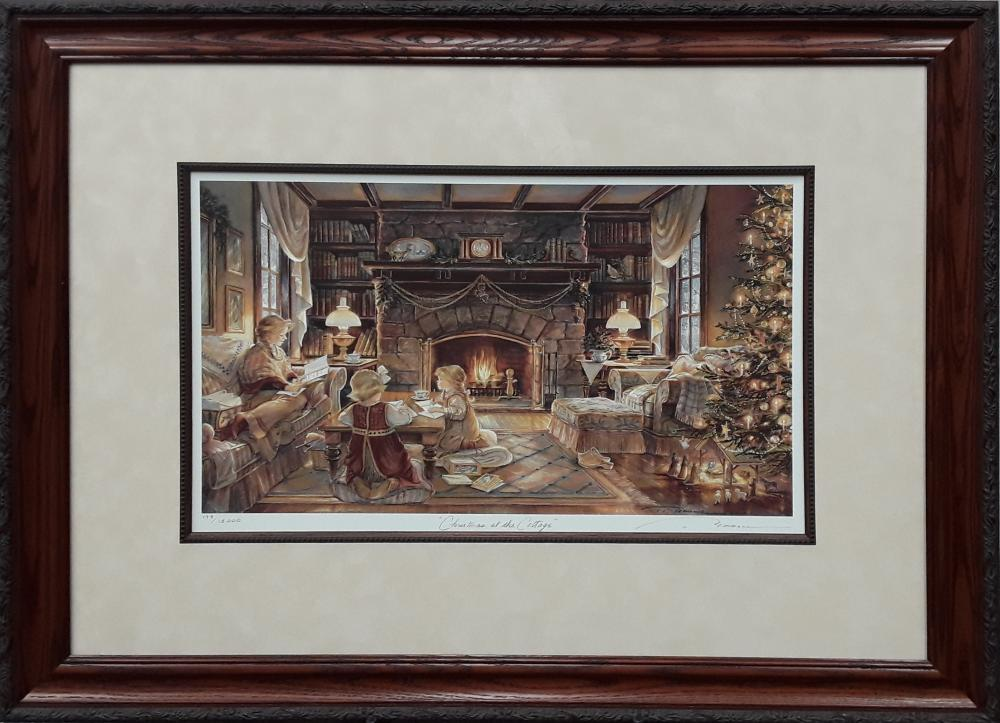 "Trisha Romance's ""Christmas At The Cottage"" Limited Edition Framed Print"