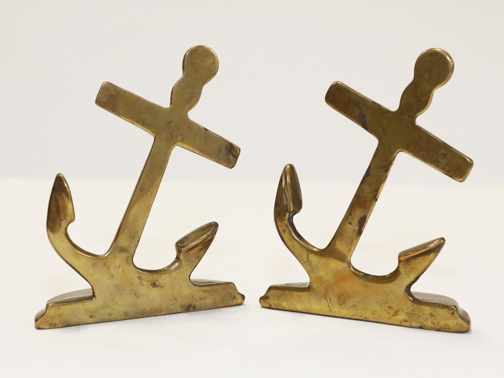 A Pair of Bronze Anchors