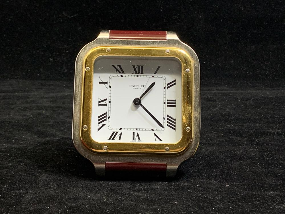 Cartier Santos Quartz Alarm Clock