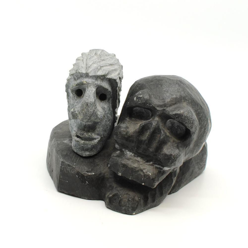 """Lucas Aaluk's """"Life"""" Original Inuit Carving"""