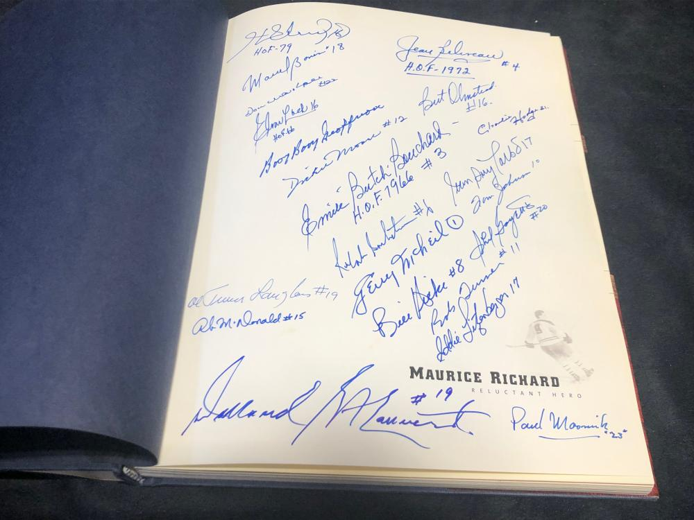 Maurice Richard, Reluctant Hero- Autographed by his Hockey Friends