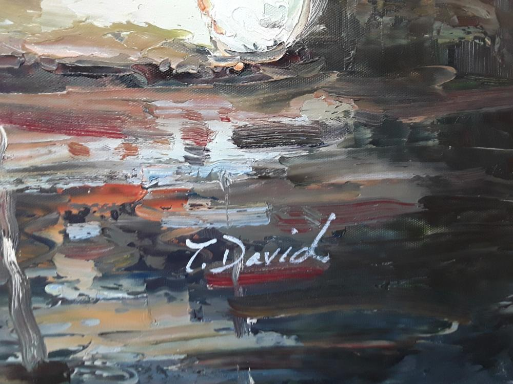 An Original Acrylic on Canvas Painting by T. David