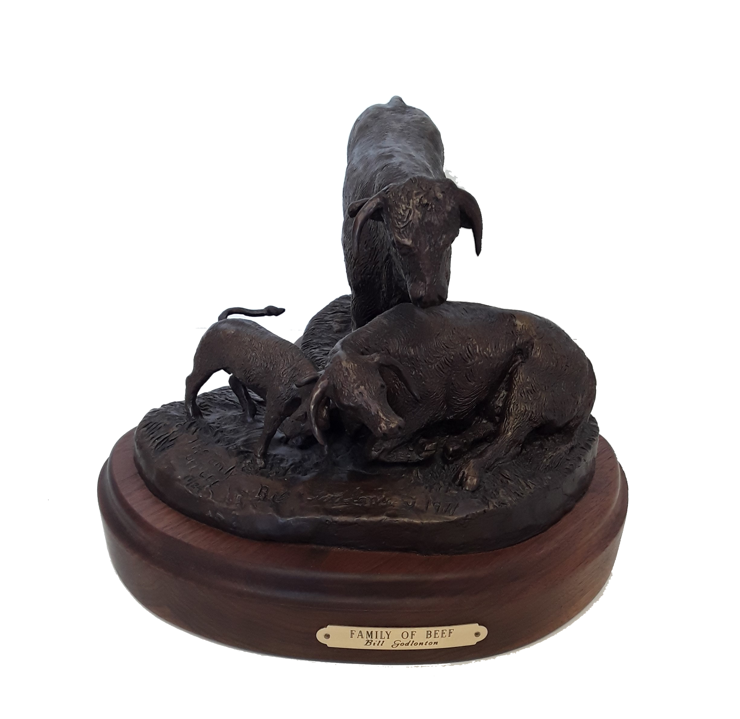 "Bill Godlonton's ""Family Of Beef"" Limited Edition Bronze Sculpture"