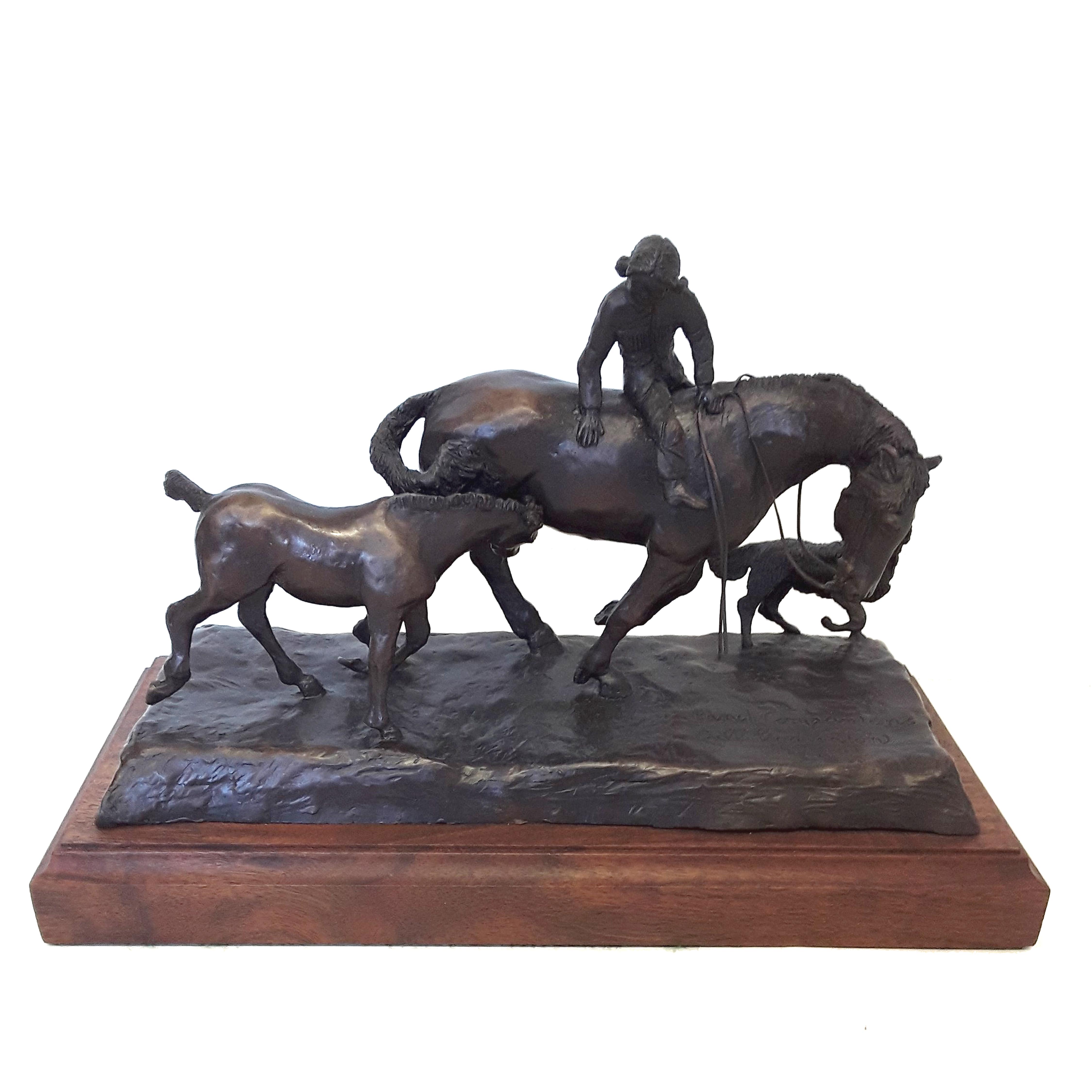 "Bill Godlonton's ""Ranch Companions"" Limited Edition Bronze Sculpture"