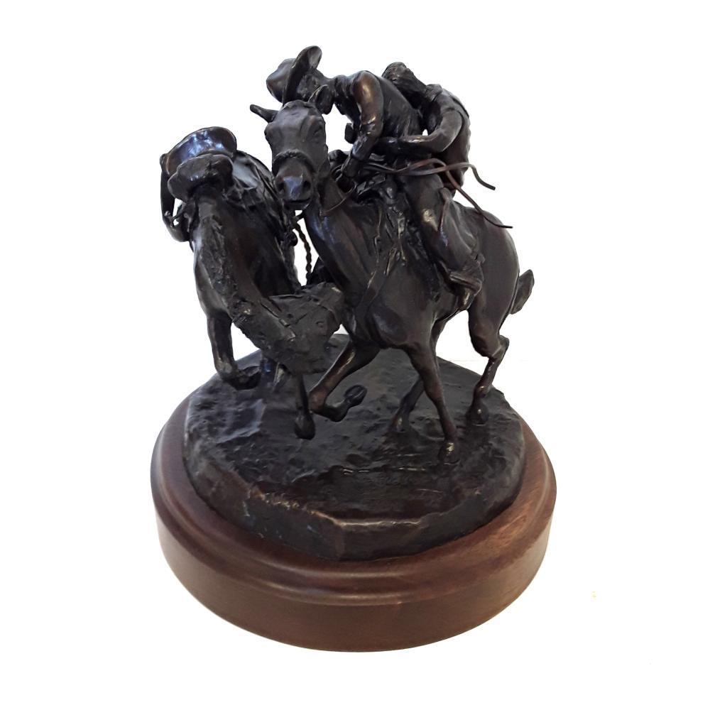 "Bill Godlonton's ""The Pick Up"" Limited Edition Bronze Sculpture"