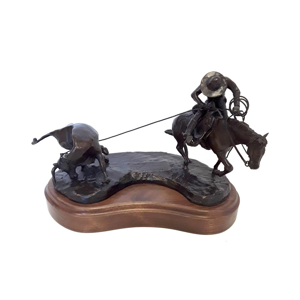 "Bill Godlonton's ""Throwing The Trip And Going Yonder"" Limited Edition Bronze Sculpture"