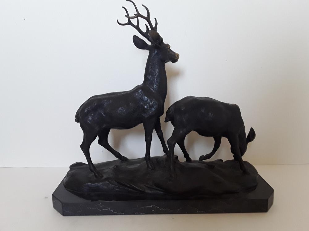 Original Bronze Deer Sculpture