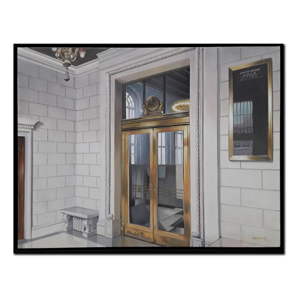 "Terry Watkinson's ""395 Main Street"" Original Oil on Canvas Framed Painting"
