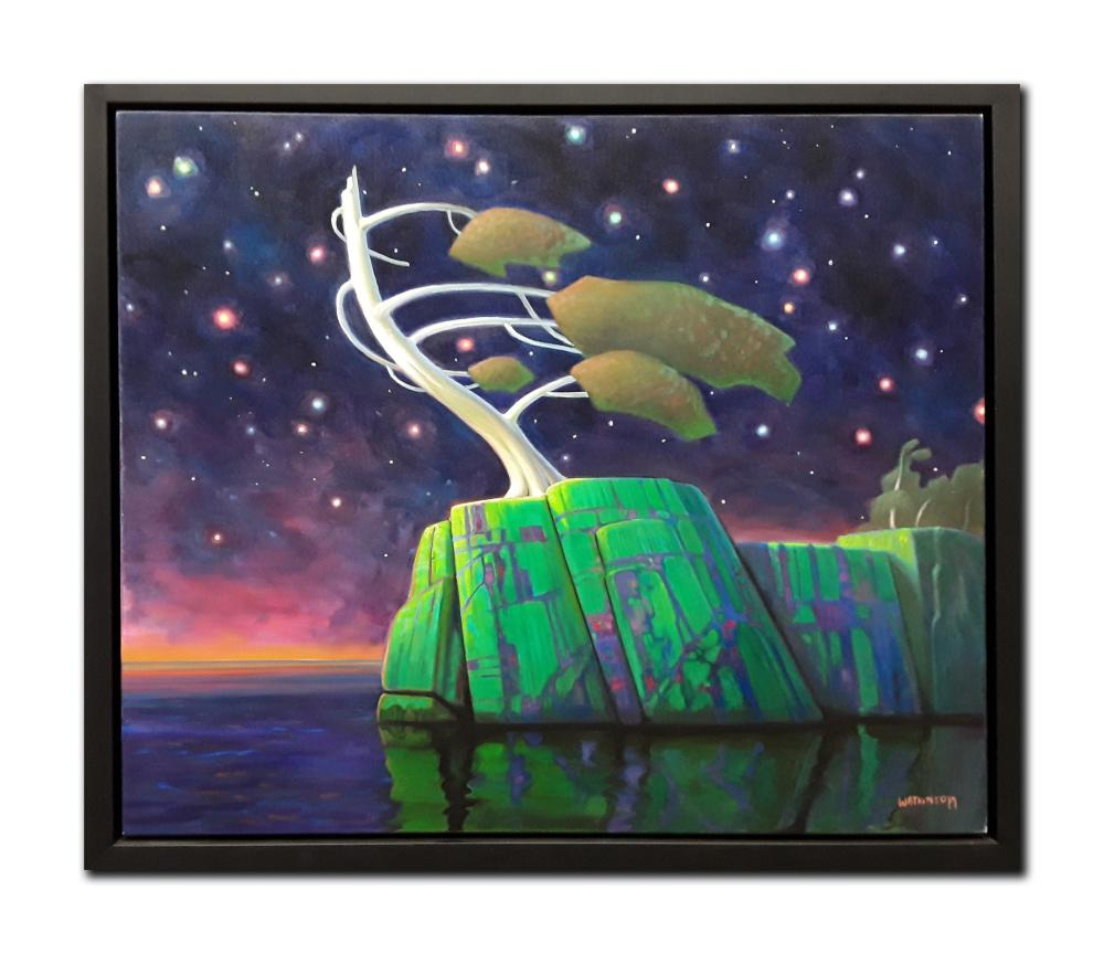 "Terry Watkinson's ""Night Vision"" Original Oil on Canvas Framed Painting"