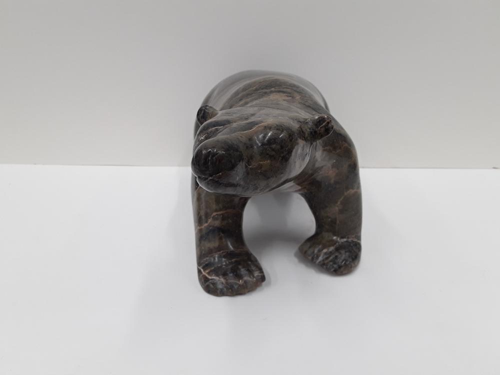 "Charlie Inuk's (attributed) ""Polar Bear"" Original Serpentine Sculpture"