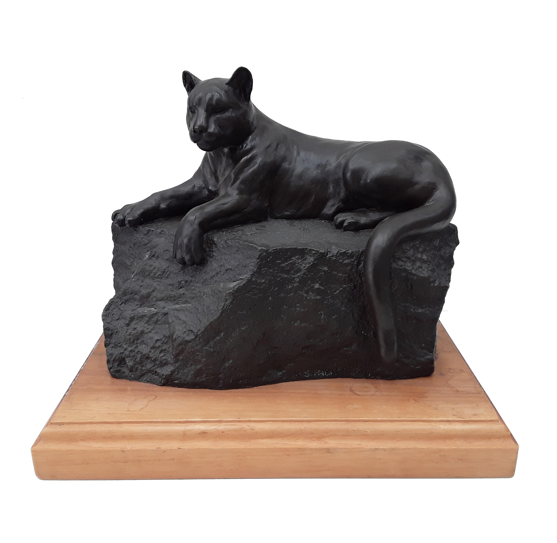 """Ron Parker's """"Rimrock Cougar"""" Limited Edition 41/95 Bronze Sculpture"""
