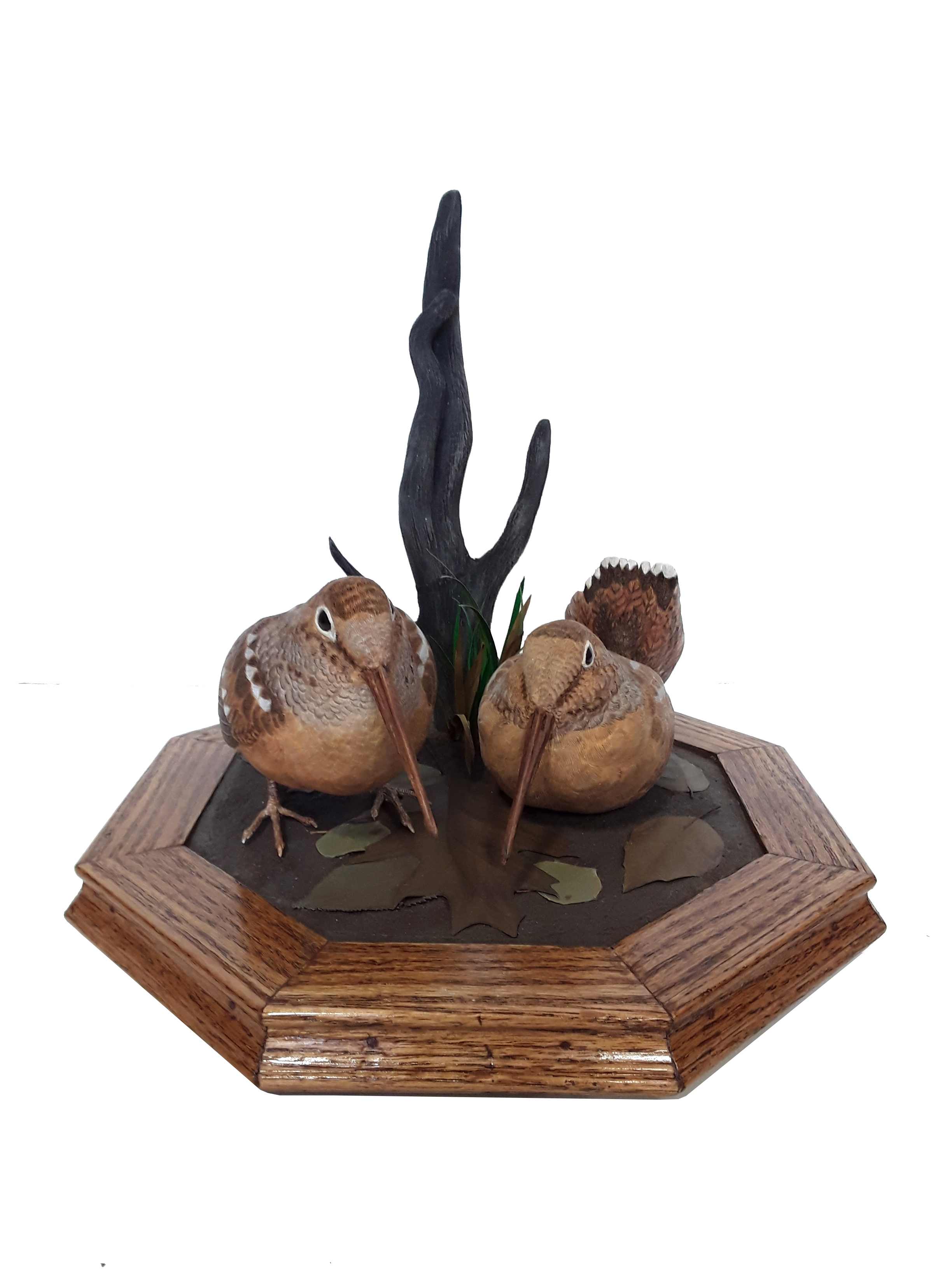 Tony Bendig's Carved Woodcocks Carving
