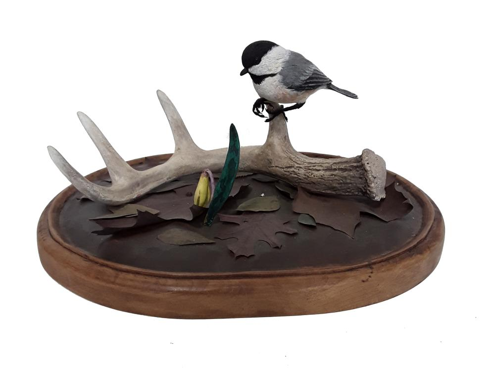 Tony Bendig's Chickadee on Anter Perch Carving