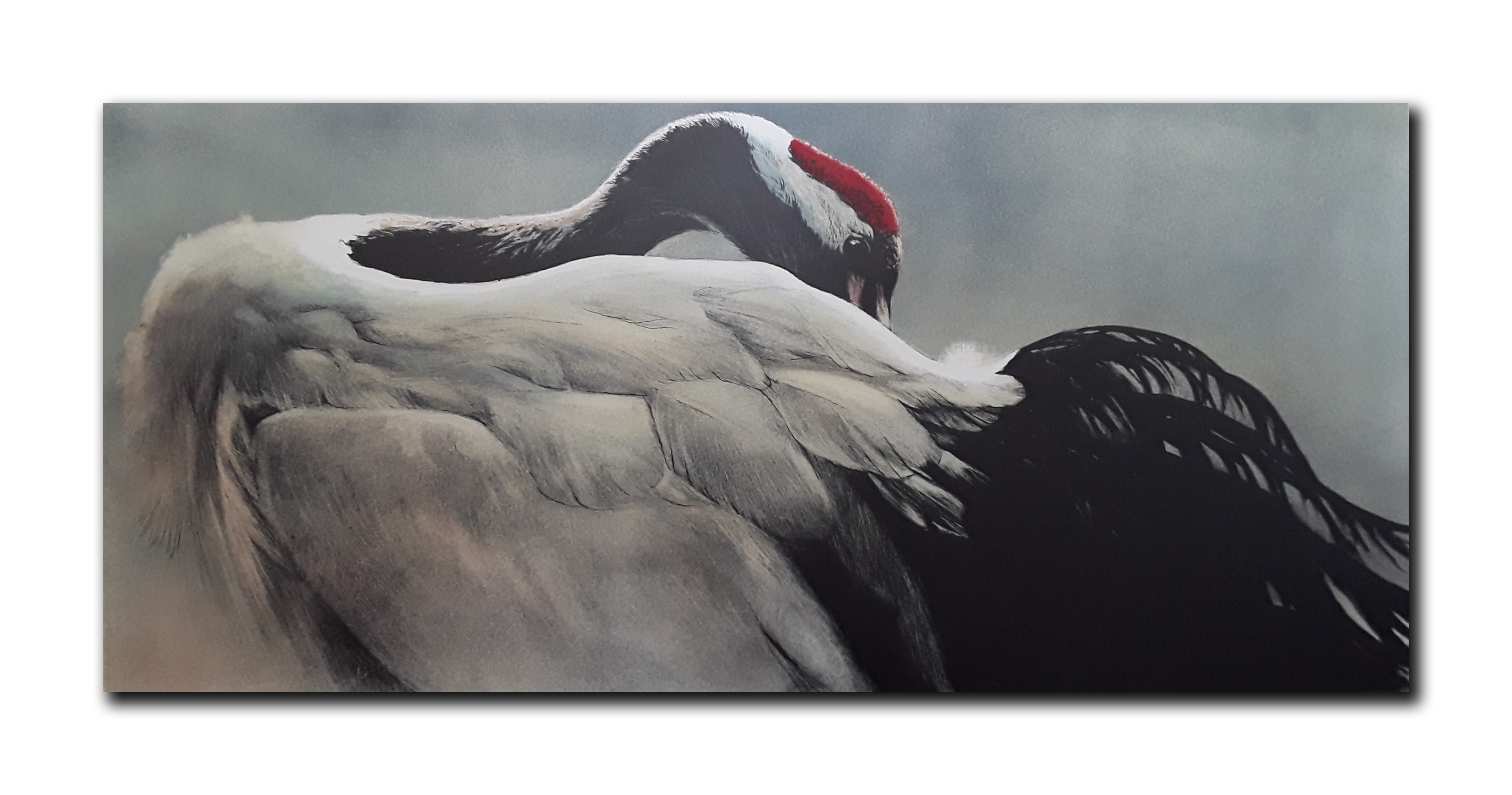 "Robert Bateman's ""Ceremonial Pose- Red-Crowned Crane"" Limited Edition Lithograph"