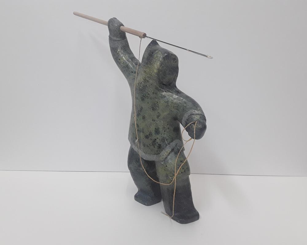 "Archie Ishulutak's ""Marble Hunter"" Original Marble Sculpture"