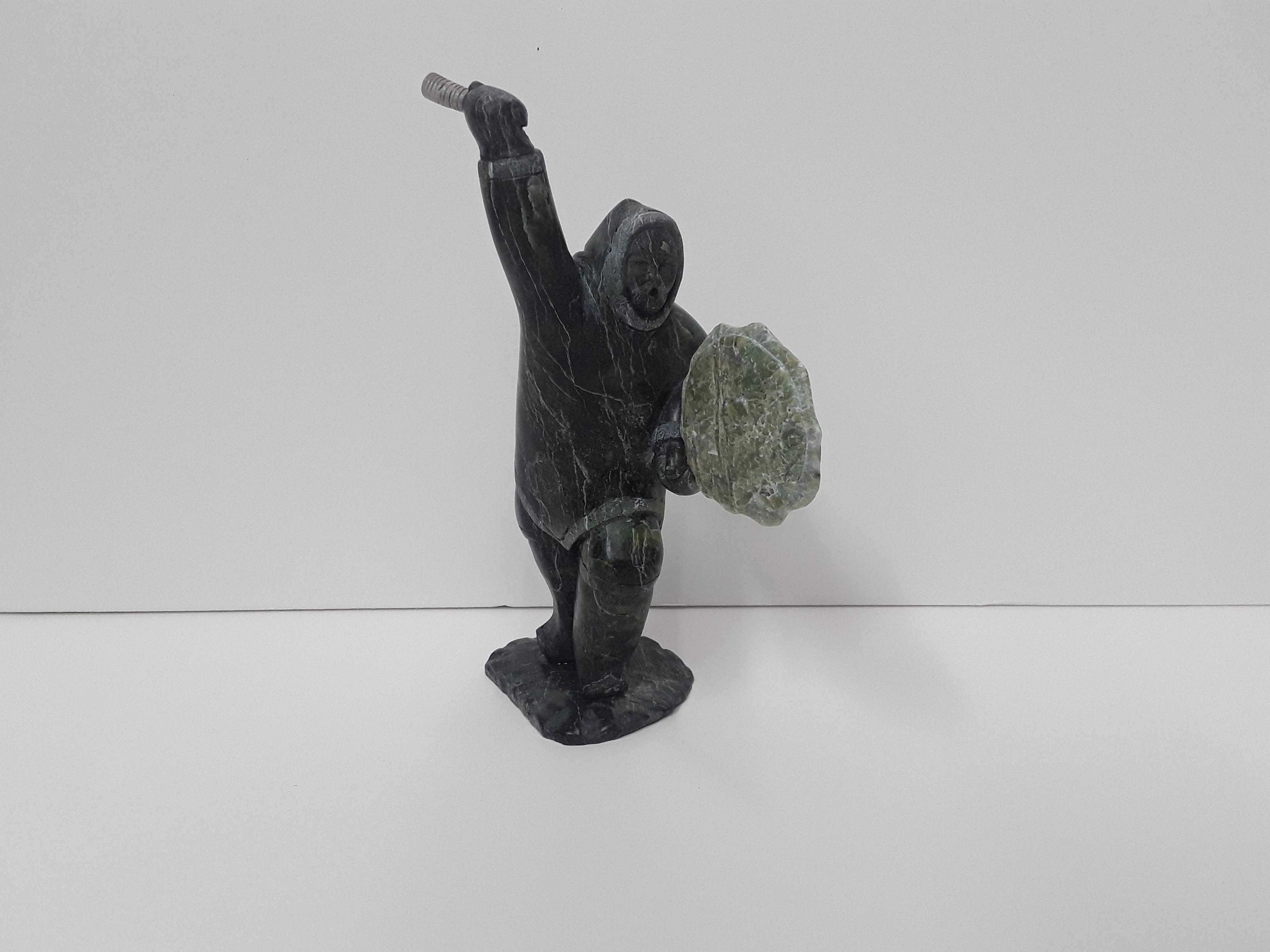 """Archie Ishulutak's """"Drum Dancer"""" Original Sculpture"""