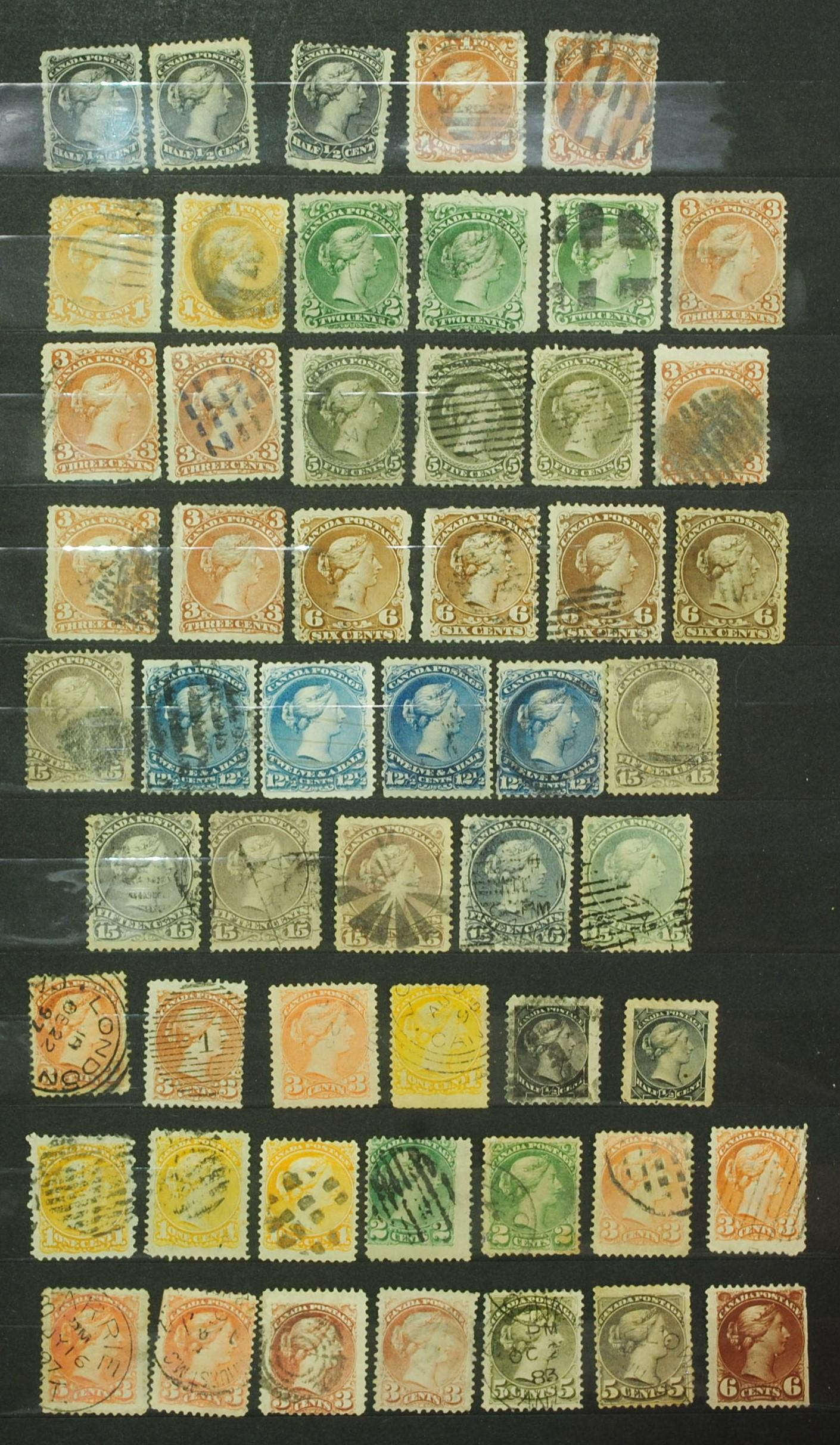 Canada Queen Victoria Stamp Collection - 68 stamps