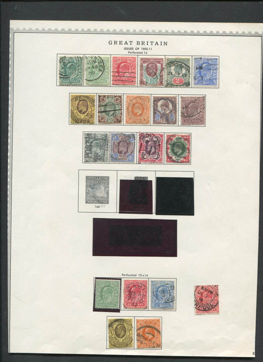 Great Britain 1902-36 Rare Stamp Collection