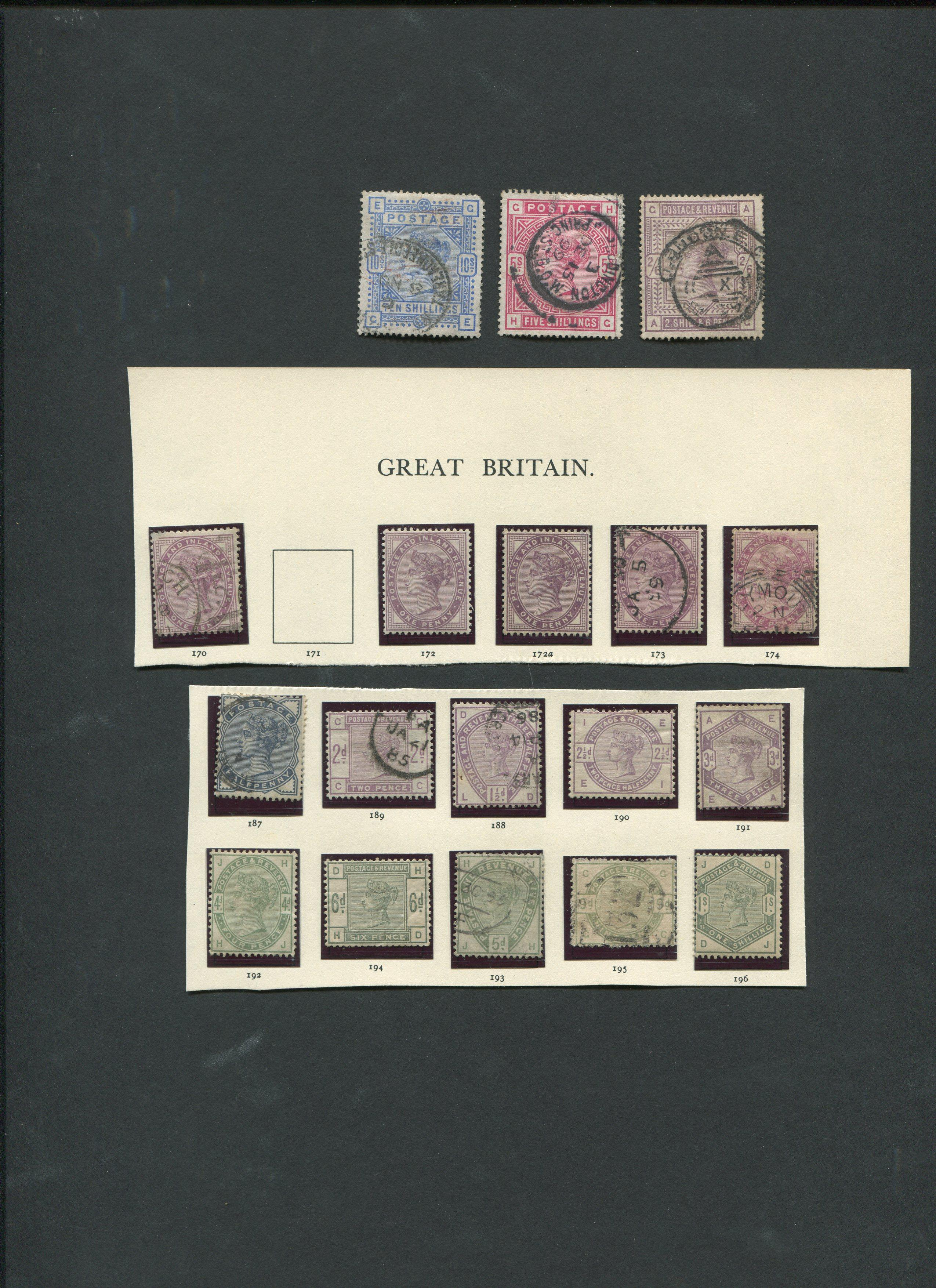 Great Britain 1881-84 Stamp Collection