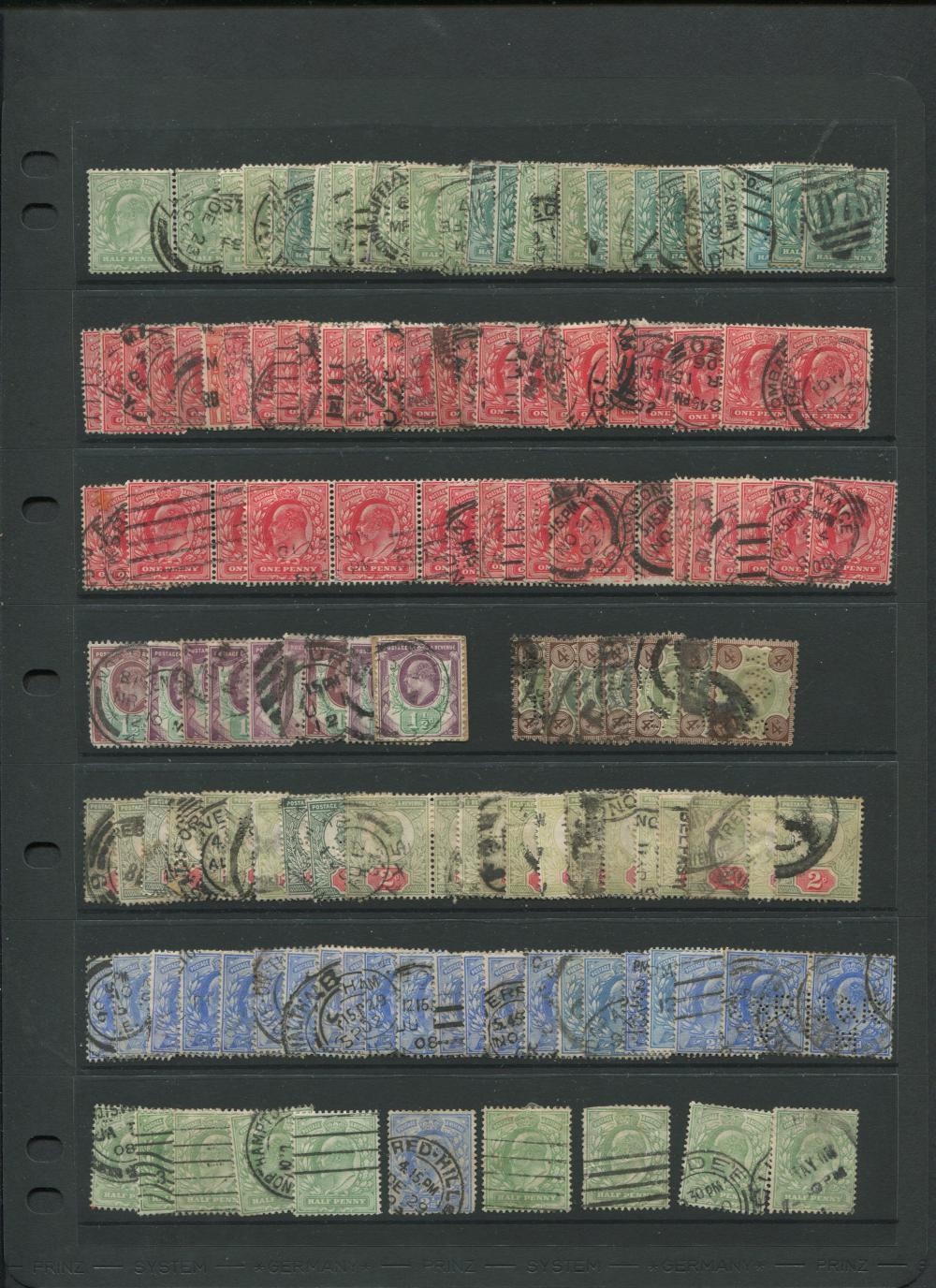 Great Britain Edward VII Stamp Collection 10