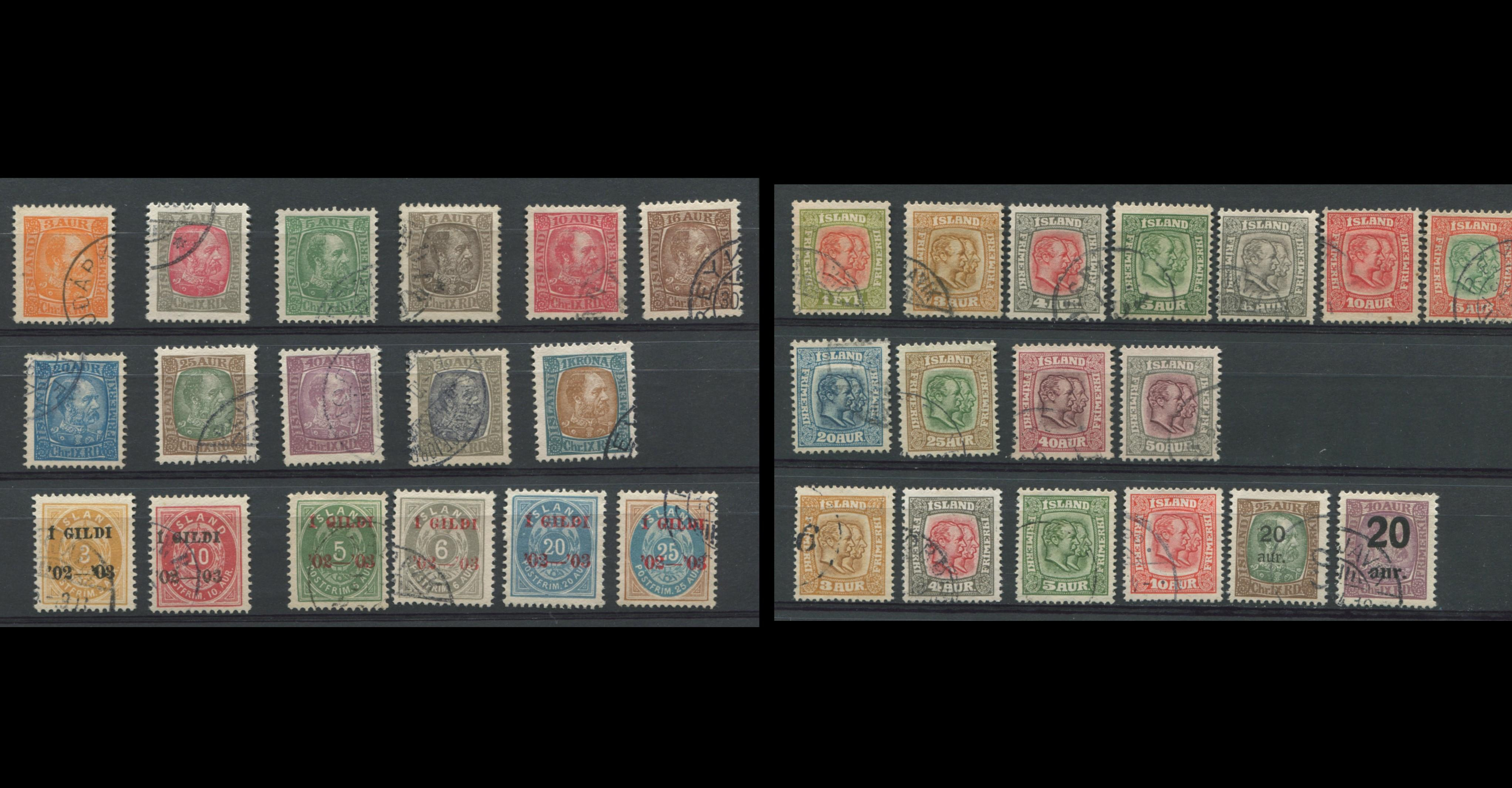 Iceland 1902-18 Stamp Sets Collection