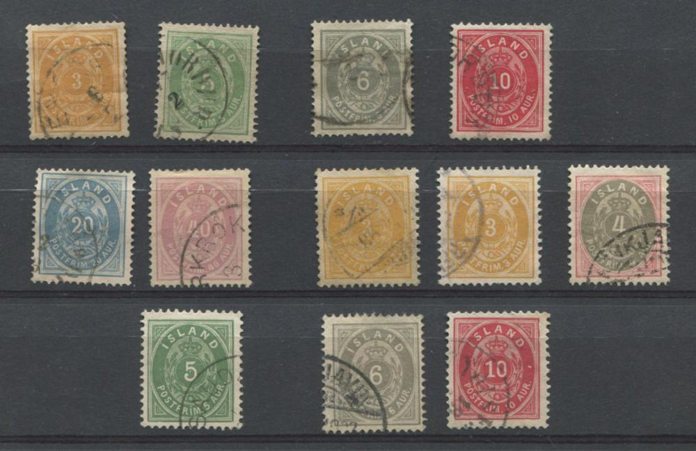 Iceland 1882-1901 Stamp Collection