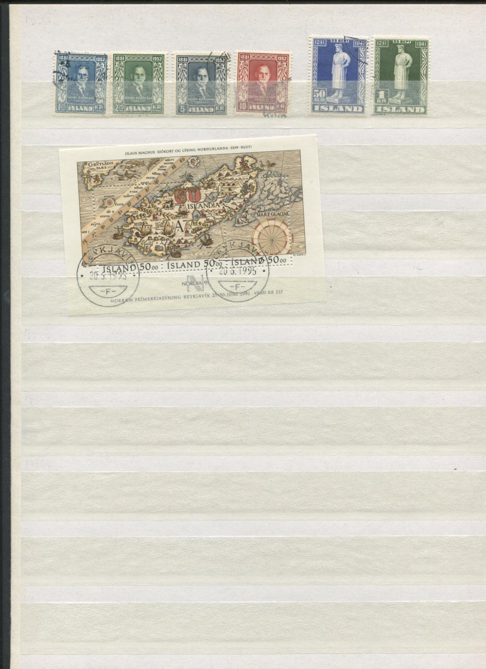 Iceland 1938-91 Stamp Collection