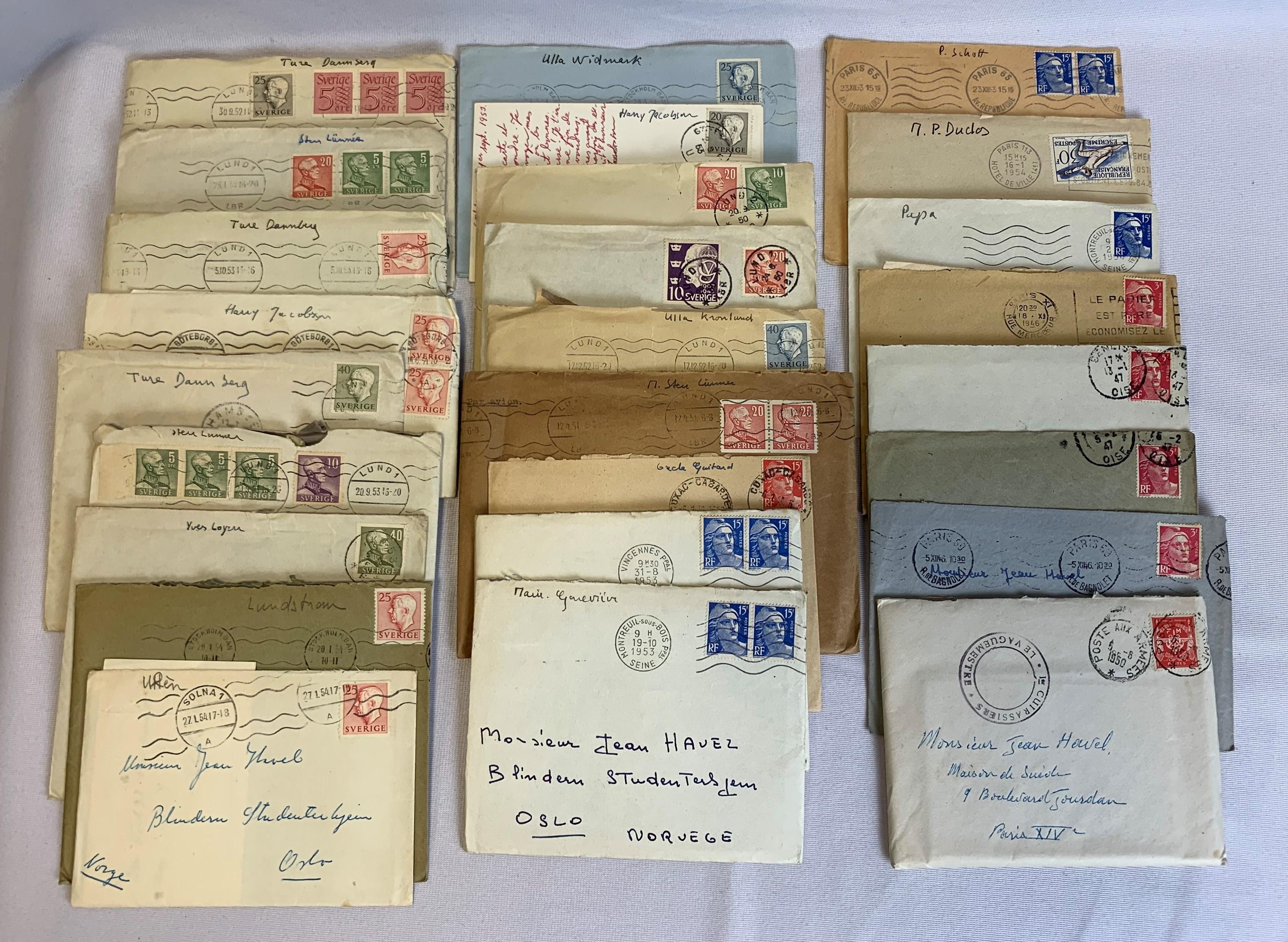 France and Sweden Stamp Covers and Cards
