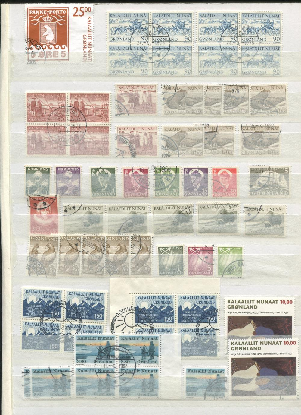 Greenland Singles & Blocks Stamp Collection