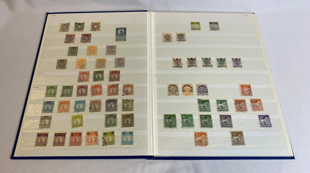 Sweden 1855-1955 Stamp Collection